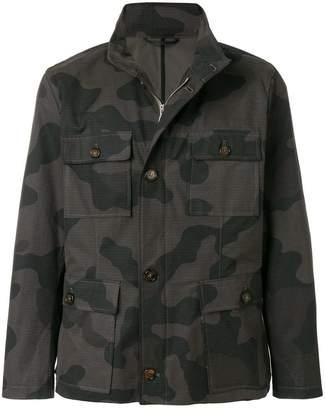 Eleventy camouflage print lightweight jacket