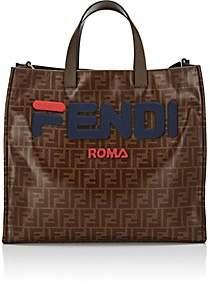 Fendi Women's Shopping Small Coated Canvas Tote Bag - Blue