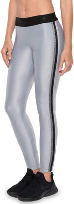 Koral Activewear Rhys Mid-Rise Performance Leggings with Metallic Racer Stripes