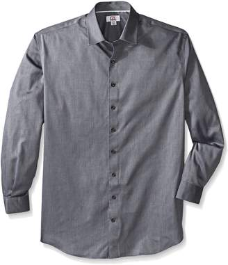 Cutter & Buck Men's Big and Tall Epic Easy Care Mini Herringbone Shirt