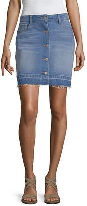 A.N.A Button Front Mini Skirt - Tall