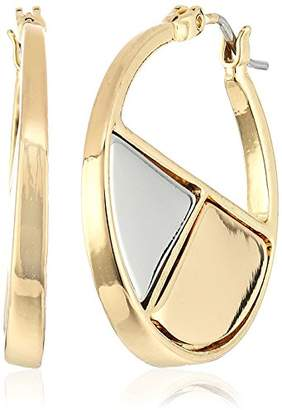 "Laundry by Shelli Segal Melrose Place"" Metal Mosaic Hoop Earrings"