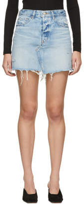 Moussy (マウジー) - Moussy Vintage ブルー Gradena ミニスカート