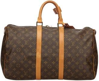 Louis Vuitton Keepall cloth travel bag