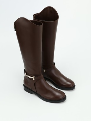 Tod's Tods Double T Brown Leather Boots