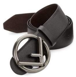 Fendi Forever Logo Reversible Leather Belt