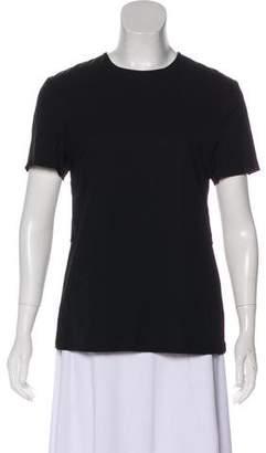 A.L.C. Open Back Short Sleeve Blouse