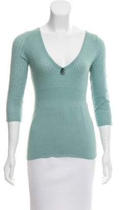 Rebecca Taylor Knit Three-Quarter Sleeve Sweater