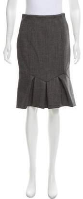 Valentino Wool-Blend Skirt