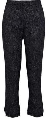 Ann Demeulemeester Oberlin Cropped Metallic Wool-Blend Slim-Leg Pants
