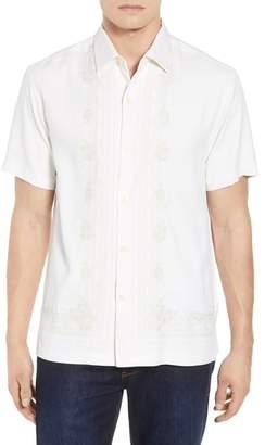 Tommy Bahama Cambio Tiles Silk Camp Shirt