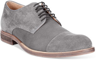 Alfani Men's Eric Mixed Texture Cap Toe Oxfords, Only at Macy's $99.99 thestylecure.com