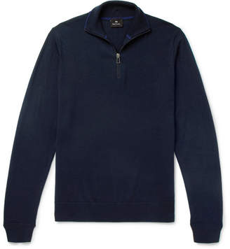 Paul Smith Merino Wool Half-Zip Sweater