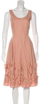 Philosophy di Alberta Ferretti Cutout Pleated Sleeveless Dress