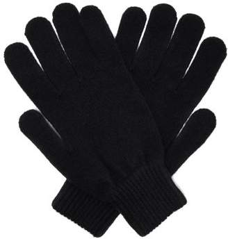 Paul Smith Cashmere And Merino Wool Blend Knit Gloves - Mens - Navy