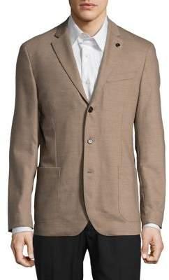 Michael Kors Wool-Blend Flannel Blazer