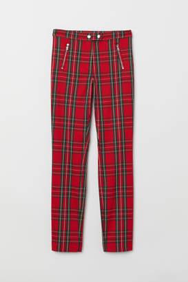 H&M Fitted Slim-fit Pants - Orange