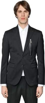 DSQUARED2 Tokyo Stretch Wool Jacket W/ Zip