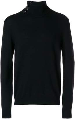 Mauro Grifoni stitch detail rollneck jumper