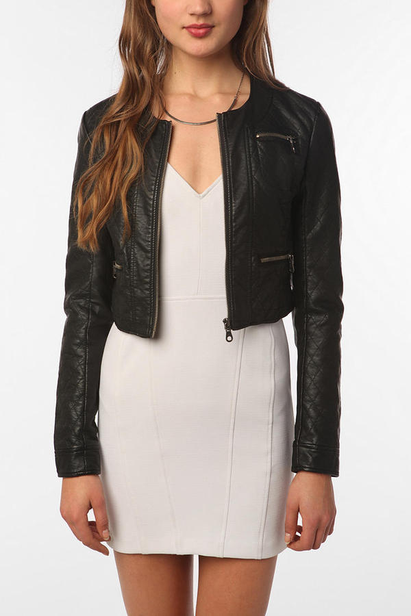 Members Only Quilted Faux Leather Jacket