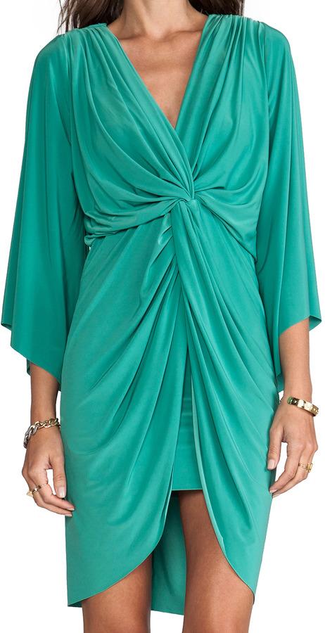 T-Bags LosAngeles Long Sleeve Knot Dress
