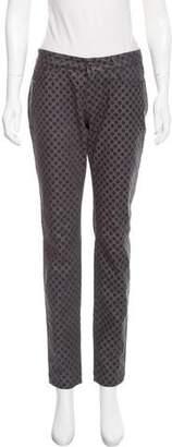 Dolce & Gabbana Polka Dot Mid-Rise Jeans