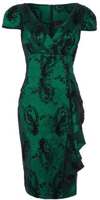 Ro Rox Women s Voodoo Vixen 50 s Emerald Peacock Pencil Dress ... 610d8000b