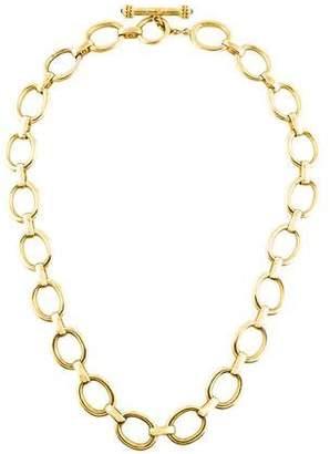 Elizabeth Locke 18K Sapphire Chain-Link Necklace