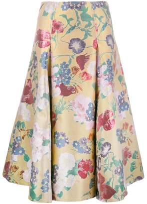 Valentino floral brocade skirt