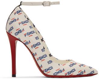 Fendi White Mania Heels