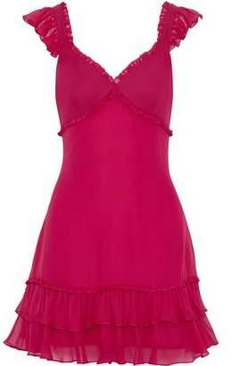 Cinq à Sept Ruffled Silk-Chiffon Mini Dress