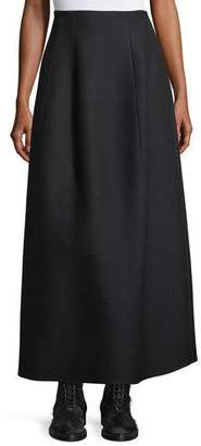 The Row Batley Wool-Silk A-Line Maxi Skirt
