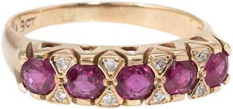 One Kings Lane Vintage Ruby Diamond Anniversary Band Ring - Precious & Rare Pieces