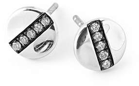 Ippolita Sterling Silver SensoTM 8mm Station Stud Earrings with Diamonds
