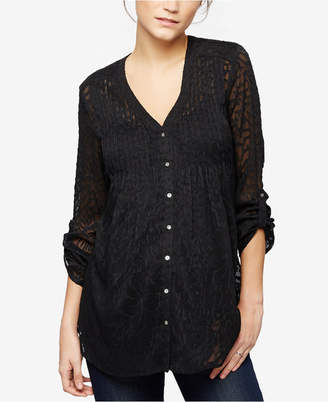 A Pea In The Pod Maternity Button-Front Blouse $88 thestylecure.com