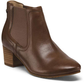 Wide Leather Comfort Booties