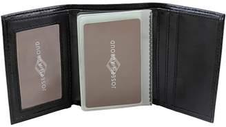Joseph Abboud Men's Leather Trifold Wallet, Black