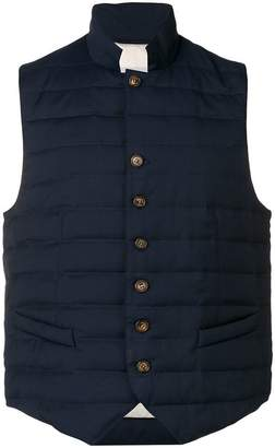 Eleventy quilted button vest