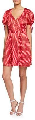 Elliatt Mona Polka Dot V-Neck Short-Sleeve Dress