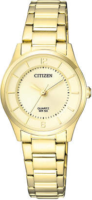 Citizen ER0203-85P Stainless Steel Quartz Dress Watch in Gold