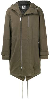 Les Hommes Urban oversized parka coat