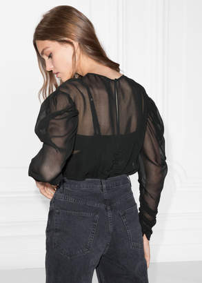 And other stories Gathered Chiffon Top