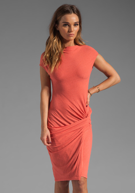 See by Chloe Silk Waist Knot Short Sleeve Dress