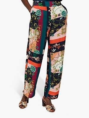 Monsoon Paloma Printed Trousers, Navy