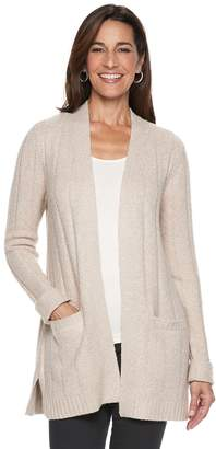 Petite Napa Valley Cozy Ribbed Cardigan Sweater
