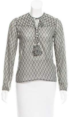 Christophe Sauvat Embellished Long Sleeve Top w/ Tags