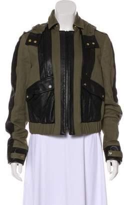 Jason Wu Hooded Leather-Trimmed Jacket
