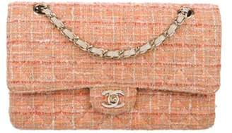 Chanel Classic Tweed Medium Double Flap Bag white Classic Tweed Medium Double Flap Bag