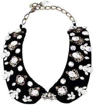Dolce & Gabbana Crystal & Velvet Collar Necklace