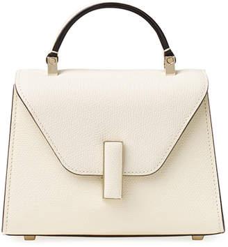 Valextra Saffiano Iside Micro Top Handle Bag
